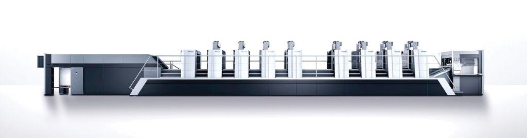 Heidelberg Speedmaster XL 106 8P+L, an offset printer