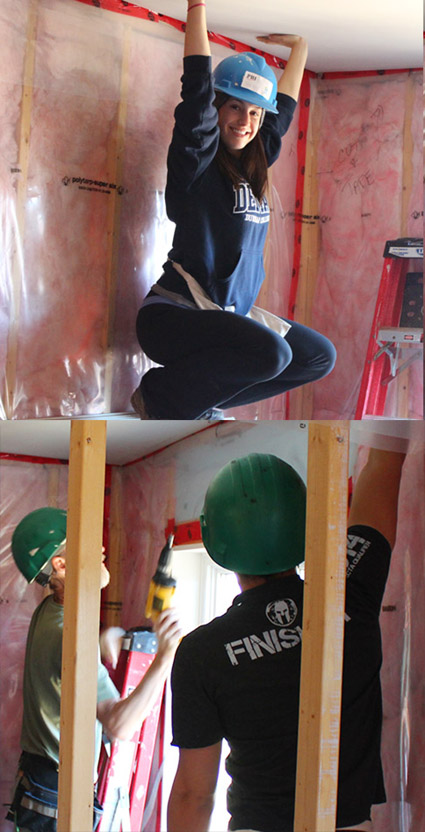 PBI Employees helping build a house with Habitat for Humanity